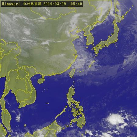 ▲▼衛星雲圖。(圖/翻攝中央氣象局)